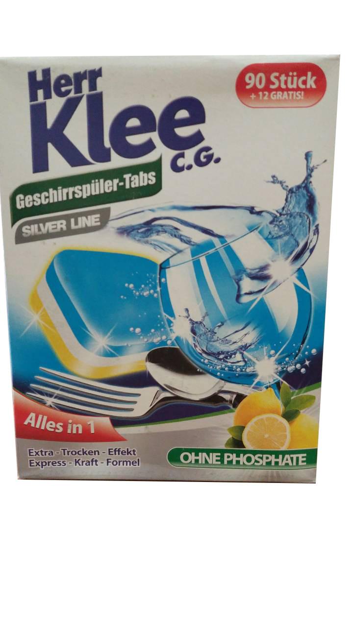 Таблетки для посудомоечной машины Herr Klee C.G. Silver Line Alles in1 102 шт
