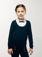 Нарядная блуза обманка с длинным рукавом.