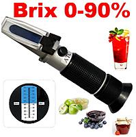 Рефрактометр для вина сусла RHW-25DATC 40%brix 25%vol