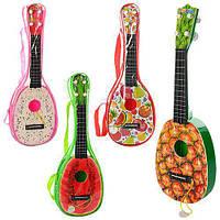 Гитара B-82, струны 4шт, медиатор, 4вида, в сумке, 42-14-4см