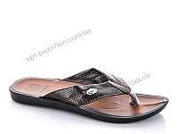 Шлепки мужские Selena 0515 коричневый (40-44) - купить оптом на 7км в одессе