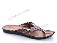 Шлепки мужские Selena 0515 св.коричневый (40-44) - купить оптом на 7км в одессе
