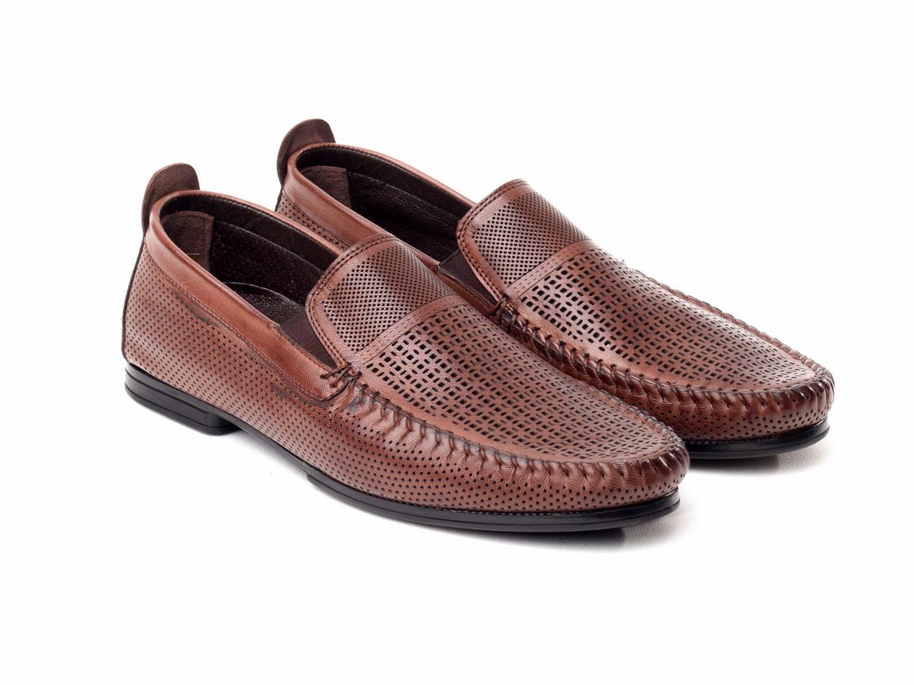 Мокасины Etor 14949-6590-1 коричневые