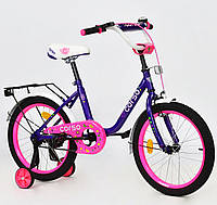 """Двухколесный велосипед Corso 18"""" С18150 детям 5-7 лет цвет фиолетовый"""