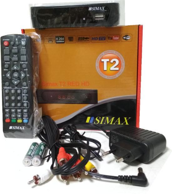 SIMAX T2 RED HD цифровой эфирный DVB-T2 ресивер