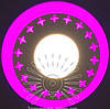"LED светильник 3+3W ""Звезды"" с розовой подсветкой / LM 535 круг"