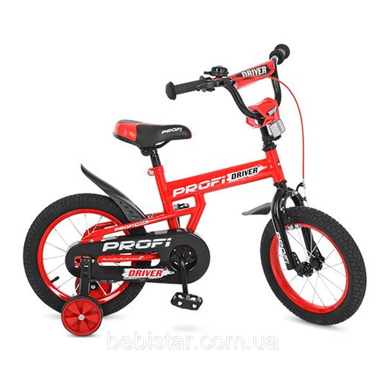 """Двухколесный велосипед  PROFI 12"""" L12112 детям 3-4 года цвет красный"""