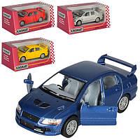 Машинка KT 5052 W, металл, инецрия, 1:36, 12 см, откр.дв, рез. колеса, 4 цвета, в коробке, 16-7-8 см