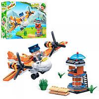 Конструктор BANBAO 6237, военный, самолет, вышка, фигурки, 228дет, в кор-ке, 33-24-7см