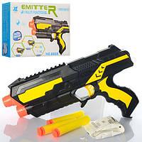Пистолет 6502, 22см, водяные пули, пули-присоски 3шт, в кор-ке, 22, 5-14-4см