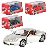 Машинка KT 5307 W, металл, инецрия, 1:34, 12, 5 см, откр.дв, рез, колеса, 4 цвета, в коробке, 16-7-8 см