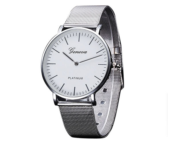Женские часы Geneva Steel Silver - гарантия 6 месяцев