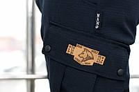 Брюки мужские милитари синие Cargo MAN AND WOLF outfit рип-стоп (30/70)