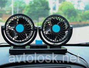 Вентилятор автомобильный 24в двойной высокого качества 303