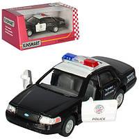 Машинка KT 5327 W, металл, инецрия, полиция, 1:42, 12см, откр.дв, рез. колеса, в коробке, 16-7-8см