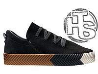 Женские сникерсы Adidas Originals Alexander Wang AW Low Skate Black/Gum/White BY1684