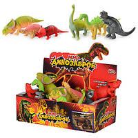 Динозавр 7210, 6 видов, 12 шт в дисплее, 28-15-9см