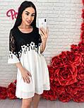 Женское шифоновое платье с кружевом (3 цвета), фото 5
