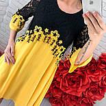 Женское шифоновое платье с кружевом (3 цвета), фото 10