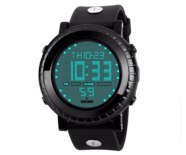 Кварцевые спортивные часы Skmei 1172 Black - гарантия 6 месяцев