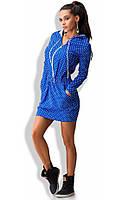 Джинсовое платье с капюшоном Д-1209