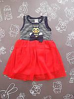 Детское летнее нарядное платье Пчелка для девочки на 3-4 года