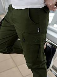 Штаны карго cargo мужские хаки BRASH MAN AND WOLF pants cotton
