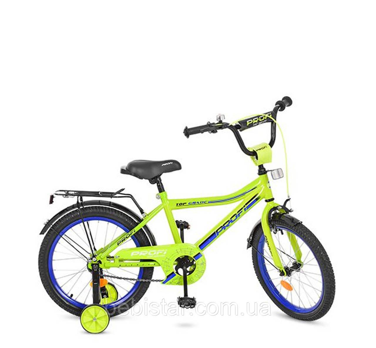 Двухколесный велосипед PROF1 18  детям 5-7 лет цвет салатовый