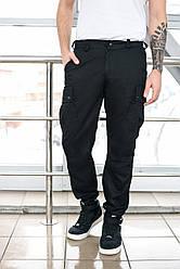 Брюки мужские милитари BRASH чёрные Maw Manandwolf карго(Cargo) pants cotton