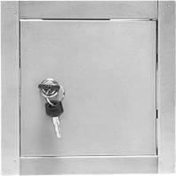 Дверцята ревізійні металеві ДРМз -17 (на замок)  - 400х500