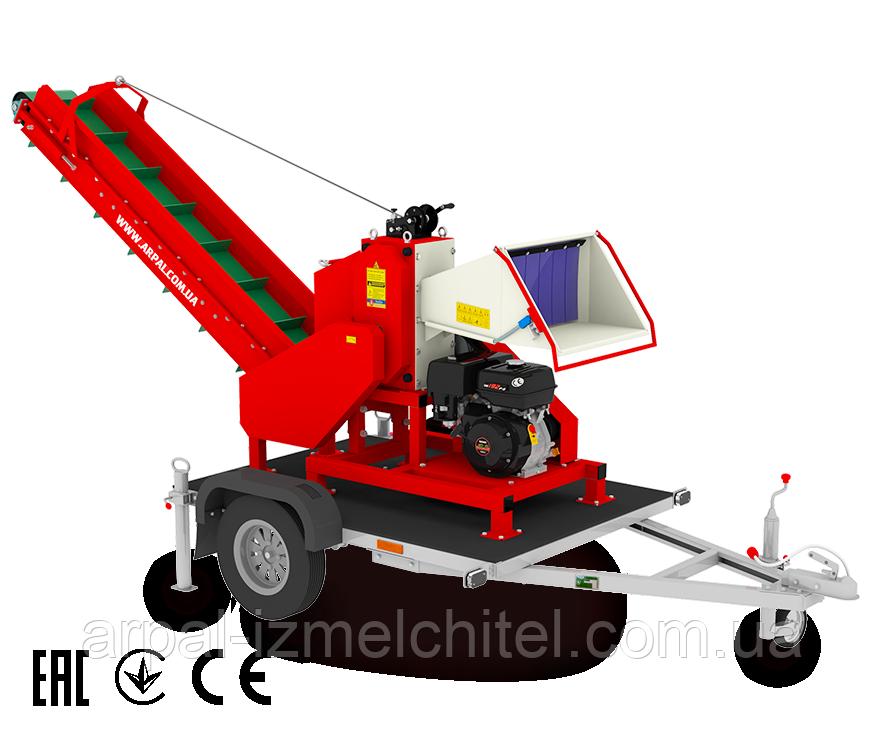 Измельчитель веток, дробилка веток, подрібнювач гілок АРПАЛ/ARPAL АМ-120БД-К
