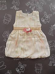 Летнее детское платье с цветочком на 1 год