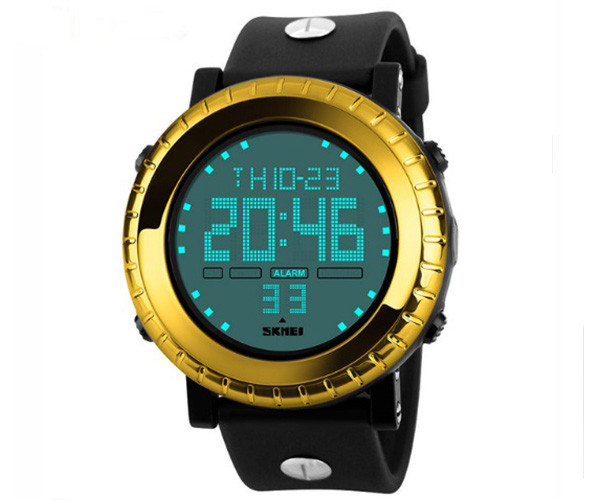Кварцевые спортивные часы Skmei 1172 Gold - гарантия 6 месяцев