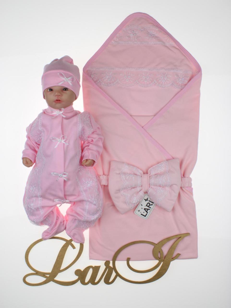 """Летний набор для новорожденных девочек """"Мармеладка"""", розовый"""