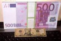 Сувенирная купюра большая 500 евро