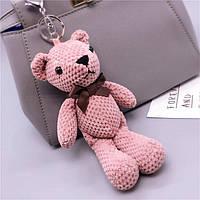 Брелок Мишка Тедди розовый