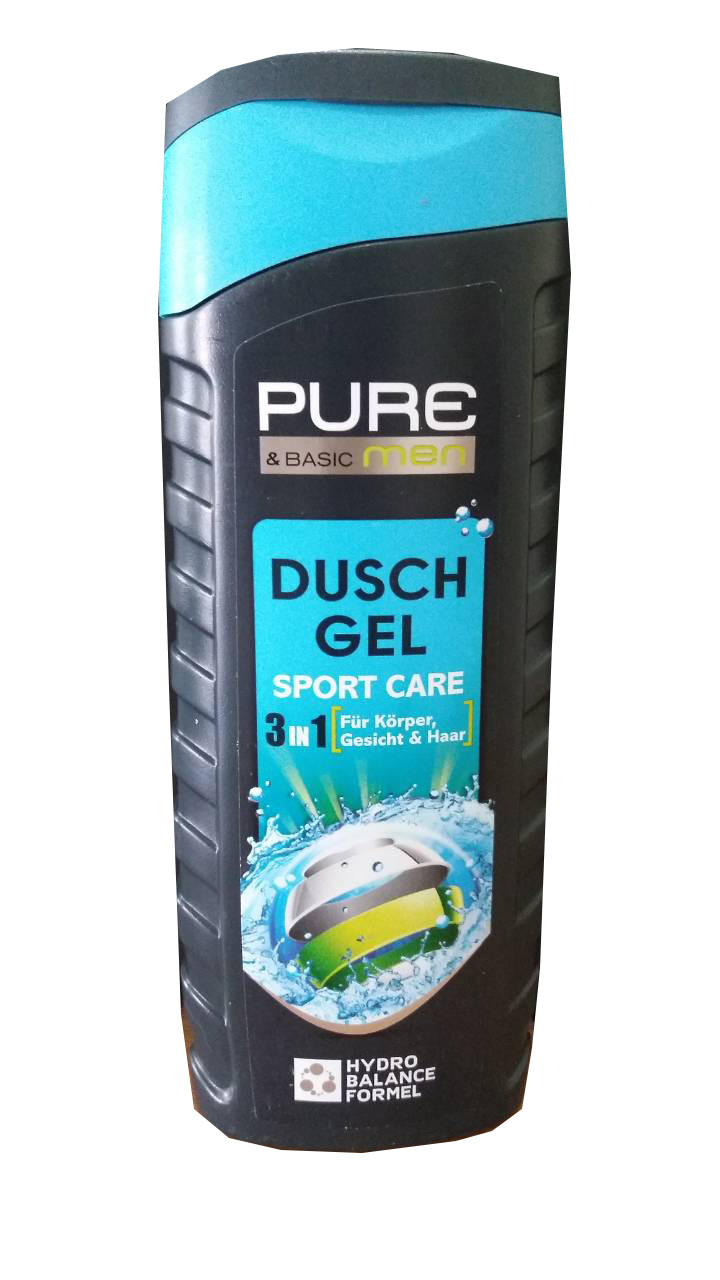 Гель для душа Pure and Basic Men Duschgel Sport Care 3 in 1