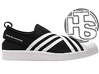 Женские слипоны Adidas White Mountaineering Superstar Slip-On Black White  BY2880 da72332b8d13e