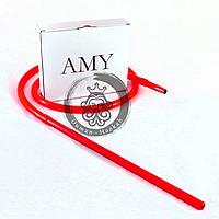 Cиликоновый шланг и алюминиевый мундштук AMY DeLuxe красный для кальяна ОПТ