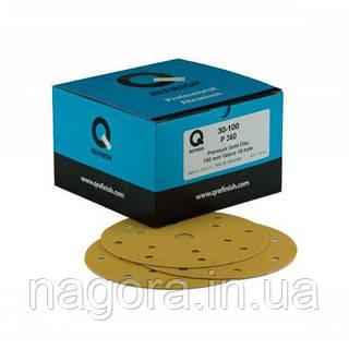 Шлифовальный круг Q-Refinish Premium Gold P80, 150 мм, 15 отверстий