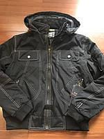 Мужская куртка весенняя осенняя черная (распродажа)