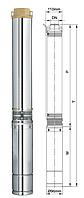 Насос для скважин центробежный 0,55кВт Н84(60)м - Q45(30)л/мин- Ø 75мм Aquatica 777403