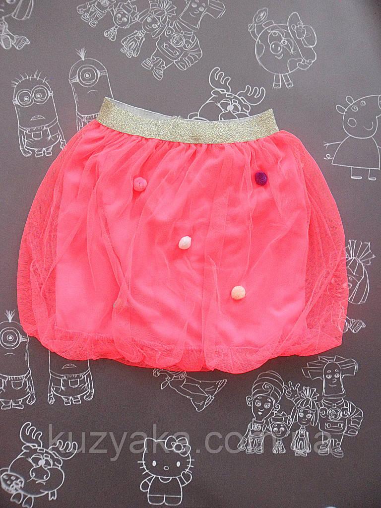 Детская розовая юбка для девочки на 3 - 5 лет