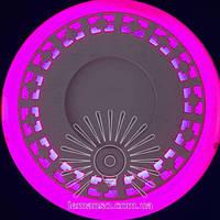 """LED світильник 12+6W """"Кубики"""" з рожевою підсвічуванням / LM 546 коло, фото 1"""