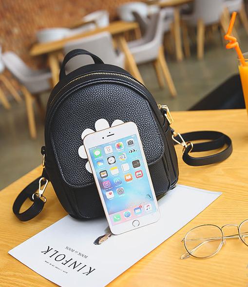мини рюкзак чёрный для девушки