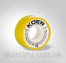 Фум лента Koer 15мх0.1ммх12мм для газа