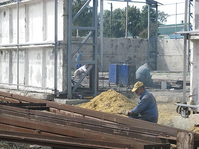Строительство зернохранилищ в Херсоне