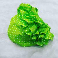 Трусики под памперс для девочки (размеры от 3 мес до 1.5 года) — Зеленые в крапинку, фото 1