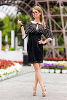 Платье женское черного цвета, платье делового стиля молодежное, платье красивое маленького размера, фото 1