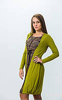 Платье женское большого размера, платье женское красивое нарядное, платье оливкового цвета свободного кроя